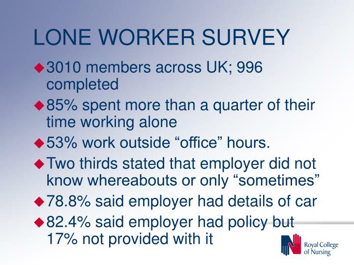 LONE WORKER SURVEY