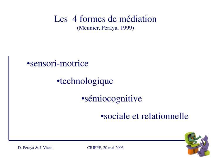 Les  4 formes de médiation