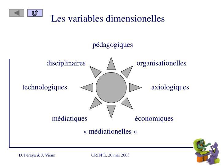 Les variables dimensionelles