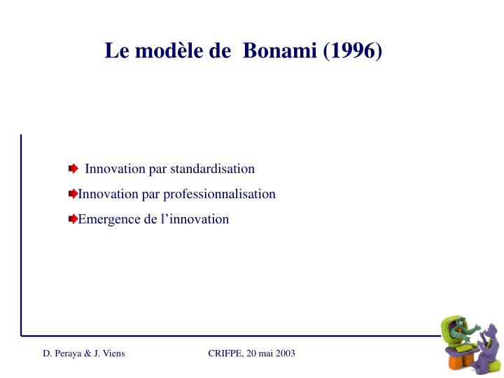 Le modèle de  Bonami (1996)