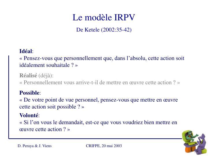 Le modèle IRPV