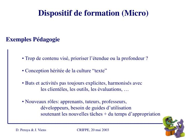Dispositif de formation (Micro)