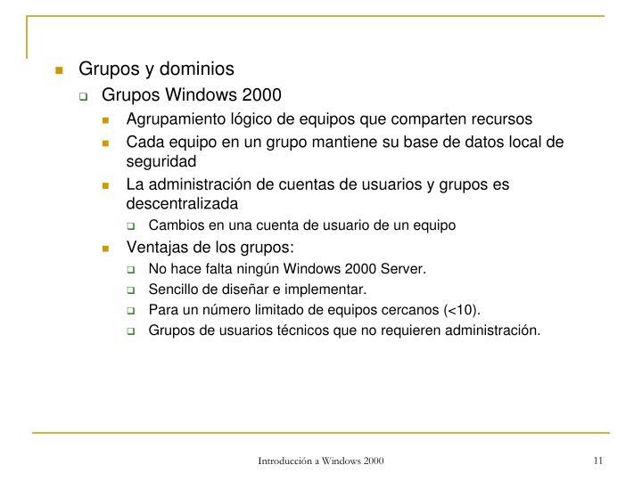 Grupos y dominios