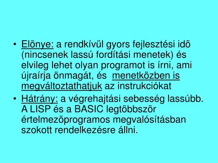Elõnye: