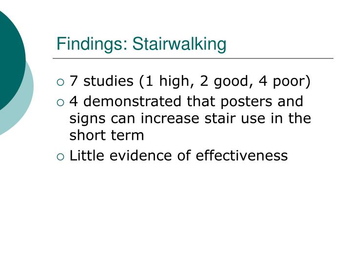 Findings: Stairwalking