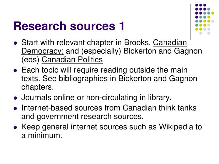 Research sources 1