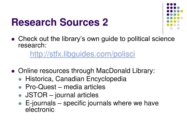 Research sources 2