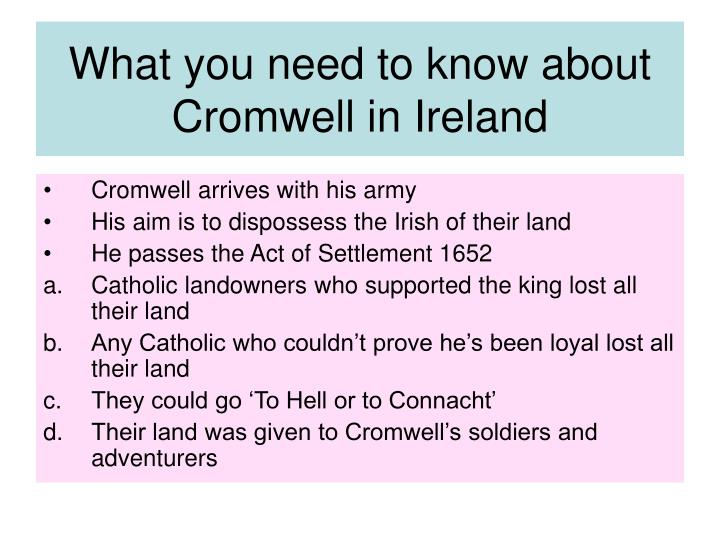 What you need to know about Cromwell in Ireland