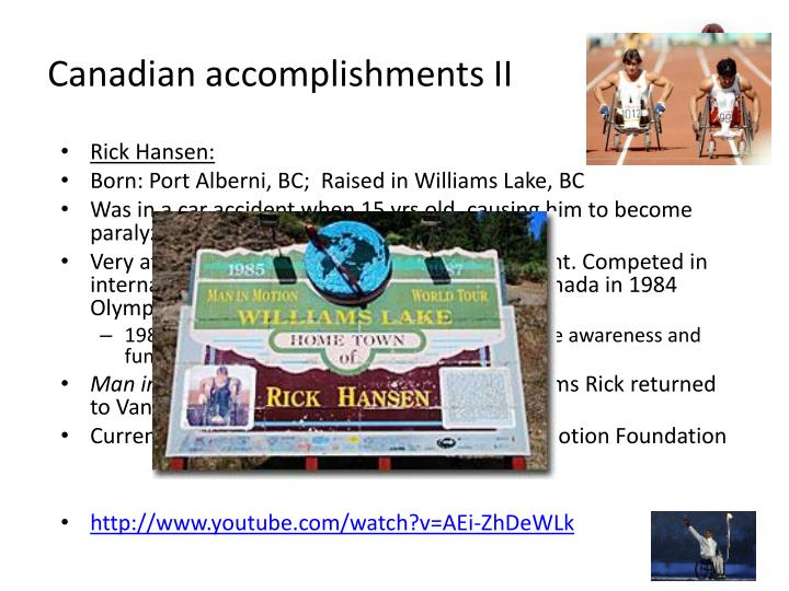 Canadian accomplishments II