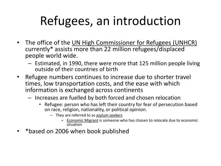 Refugees an introduction