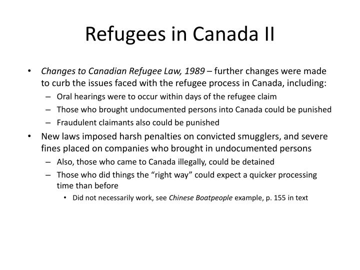 Refugees in canada ii
