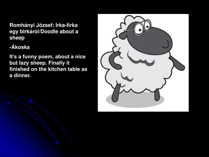 Romhányi József: Irka-firka egy birkáról/Doodle about a sheep
