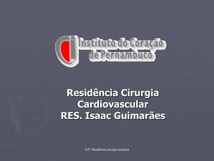 Residência Cirurgia Cardiovascular