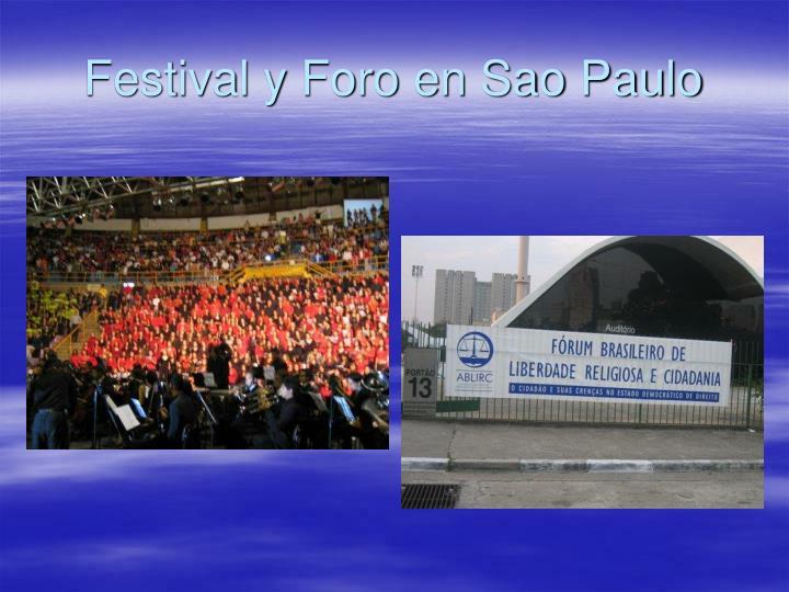 Festival y Foro en Sao Paulo