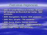 festivales regionales