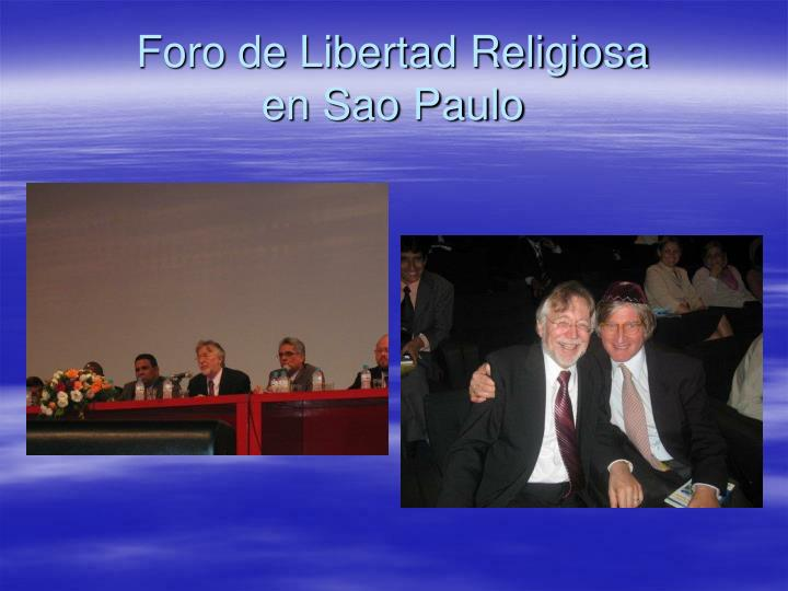 Foro de Libertad Religiosa