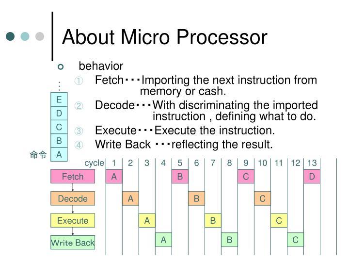About Micro Processor