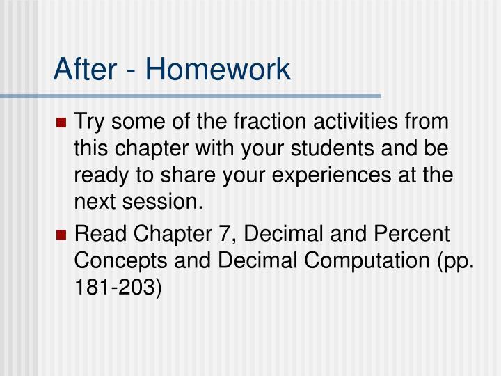 After - Homework