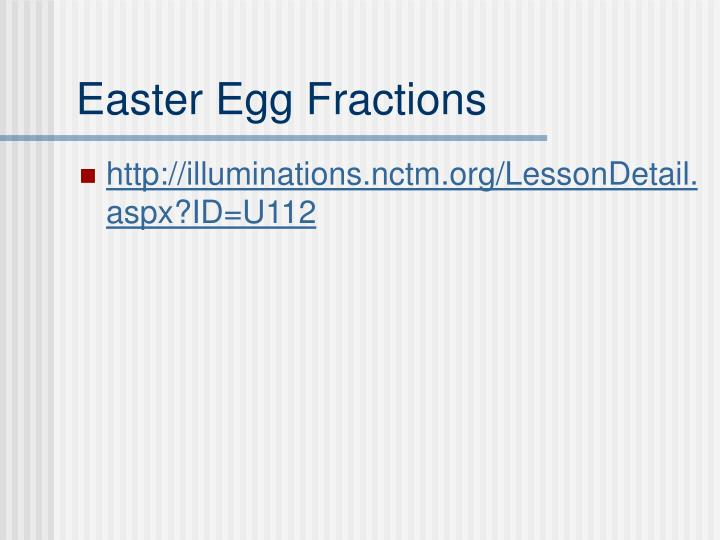 Easter Egg Fractions