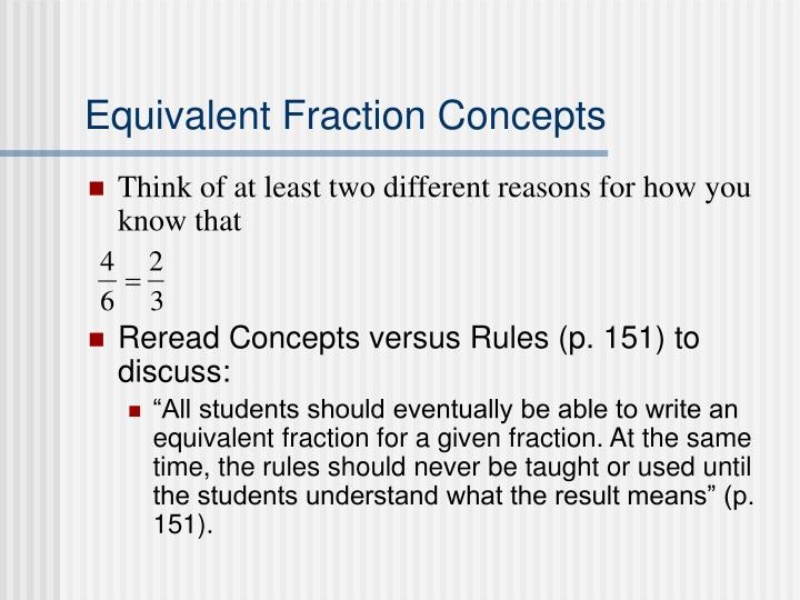 Equivalent Fraction Concepts