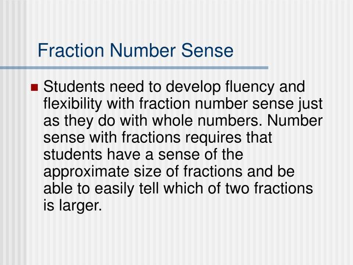 Fraction Number Sense