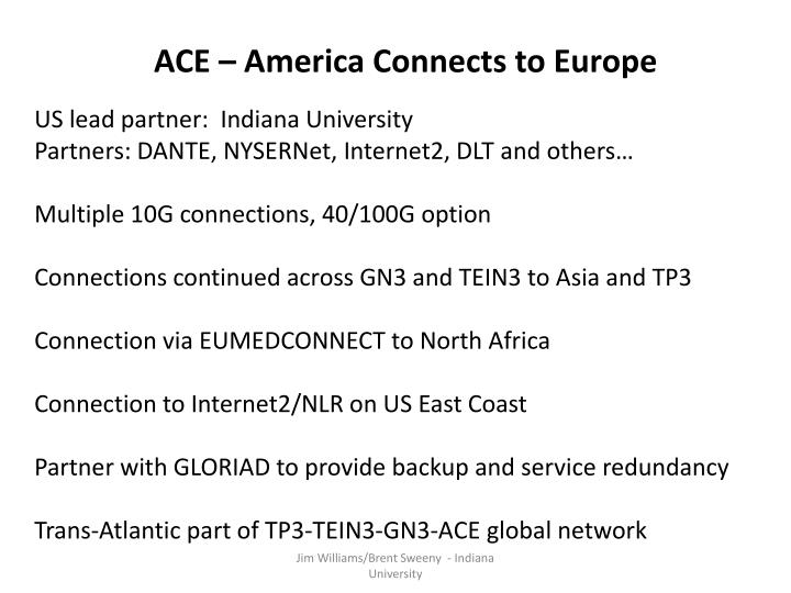 ACE – America Connects to Europe