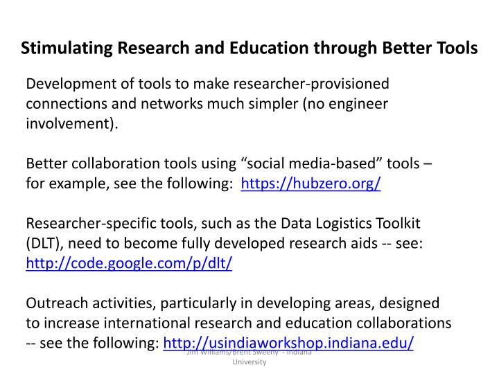 Stimulating Research and Education