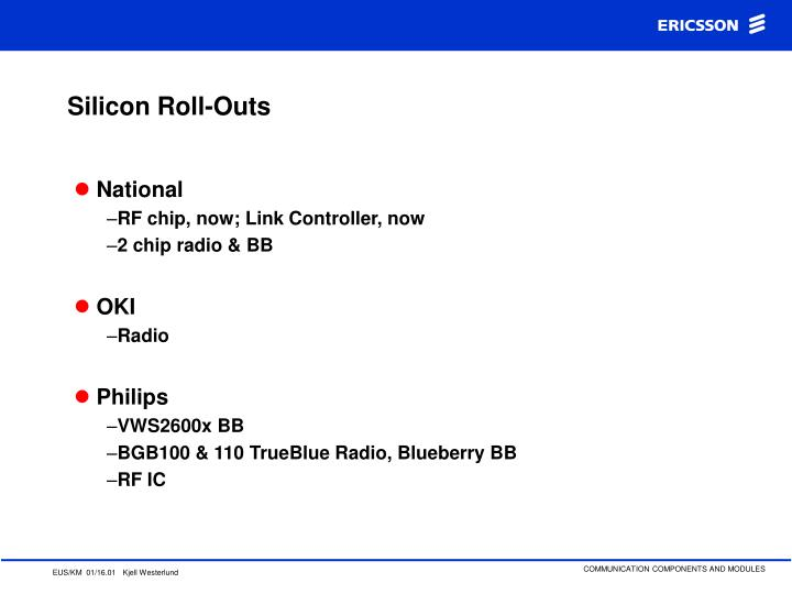 Silicon Roll-Outs