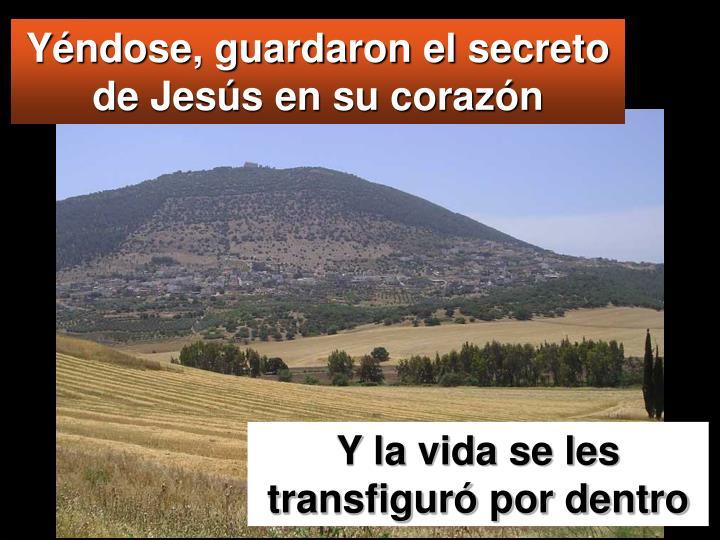 Yéndose, guardaron el secreto de Jesús en su corazón