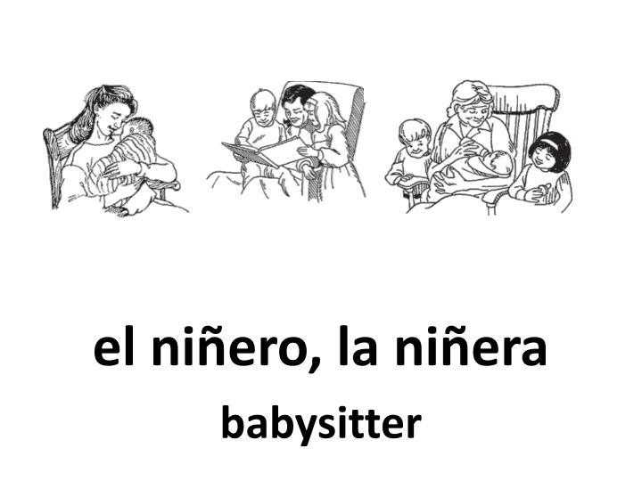 el niñero, la niñera