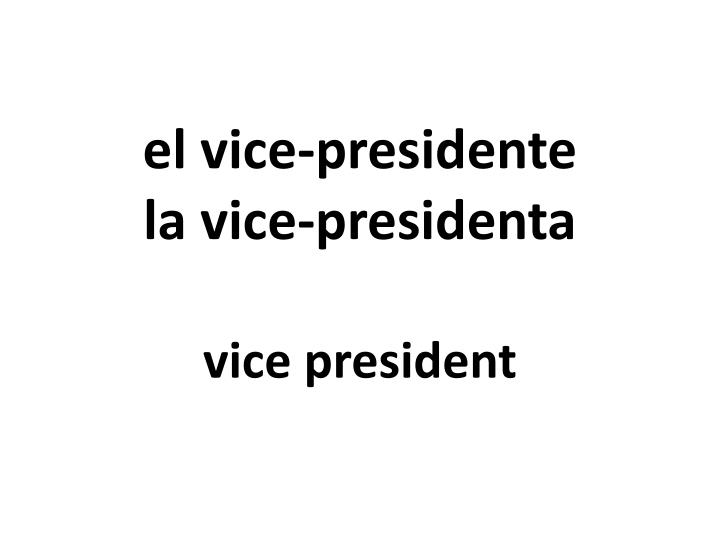 el vice-presidente