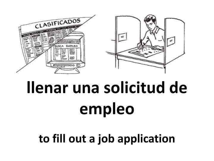 llenar una solicitud de empleo