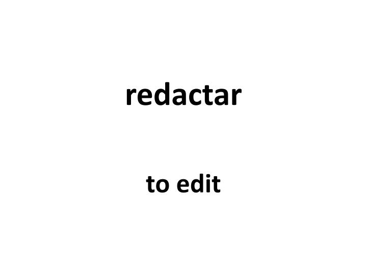 redactar