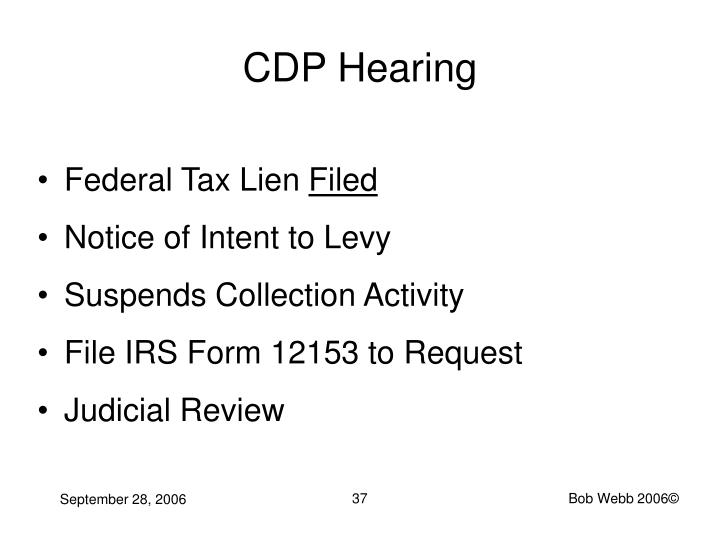 CDP Hearing