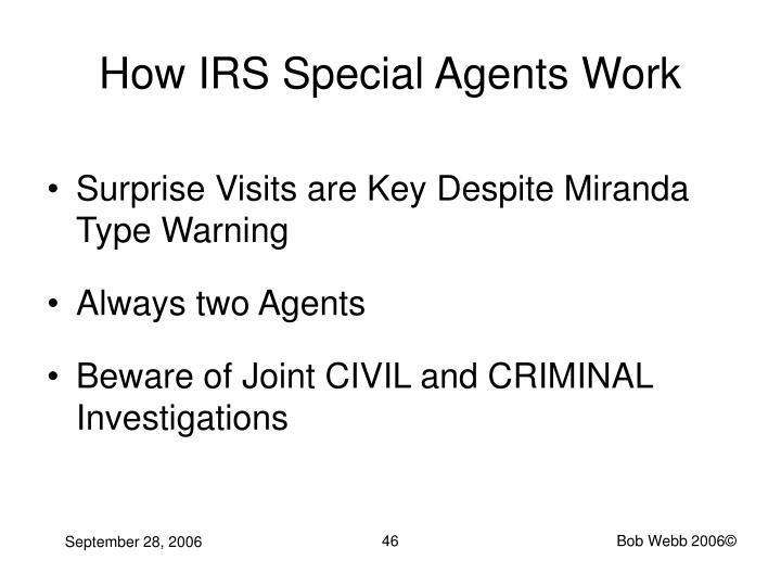 How IRS Special Agents Work