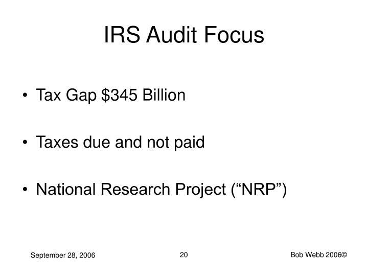 IRS Audit Focus