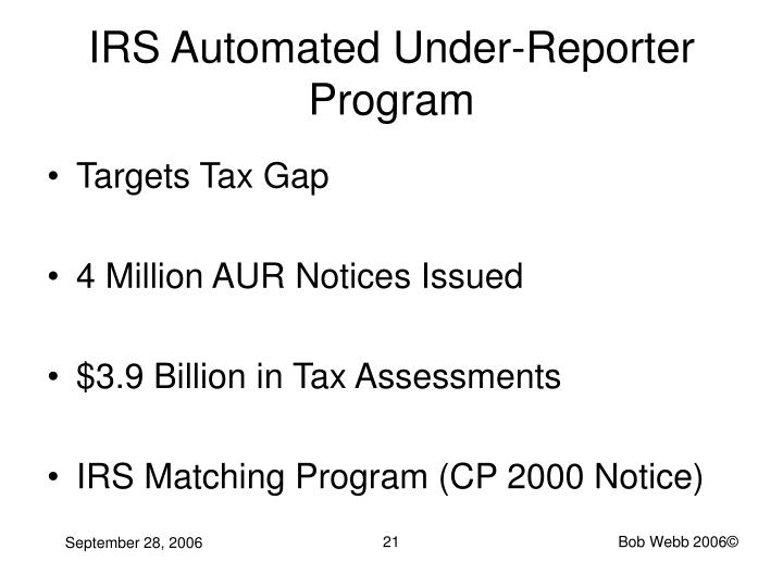 IRS Automated Under-Reporter Program