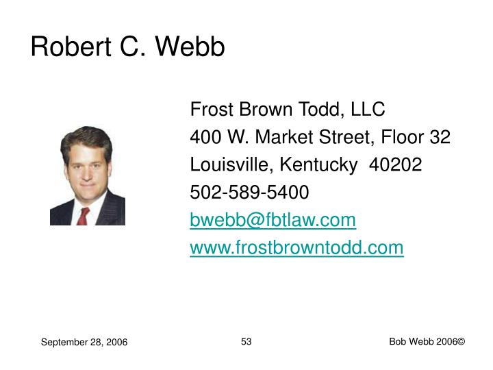 Robert C. Webb