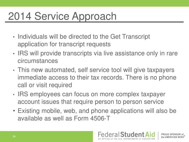 2014 Service Approach