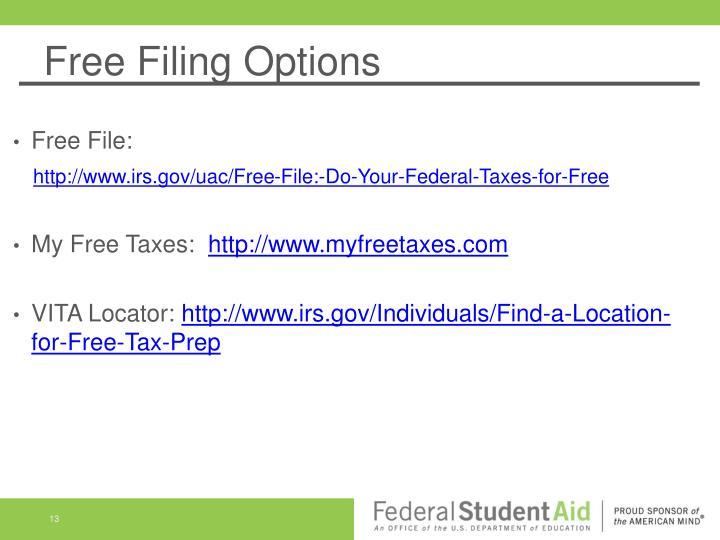 Free Filing Options