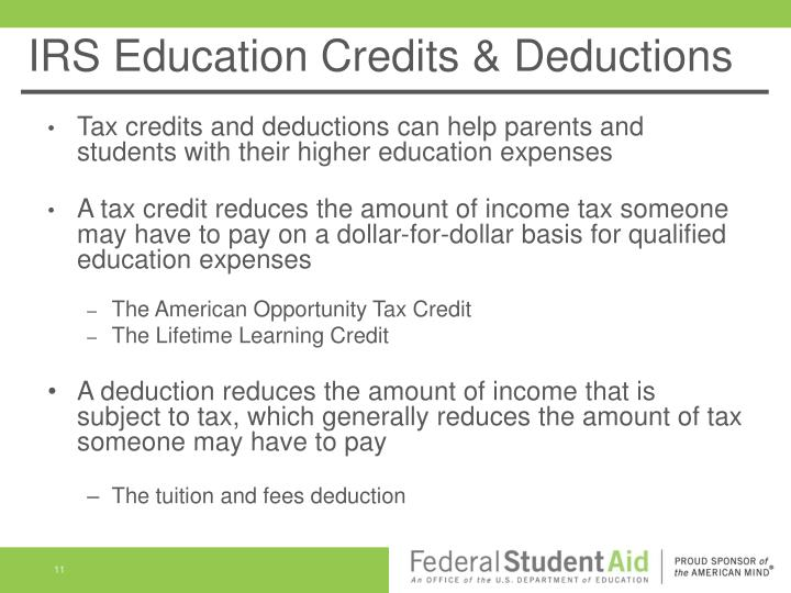 IRS Education Credits & Deductions