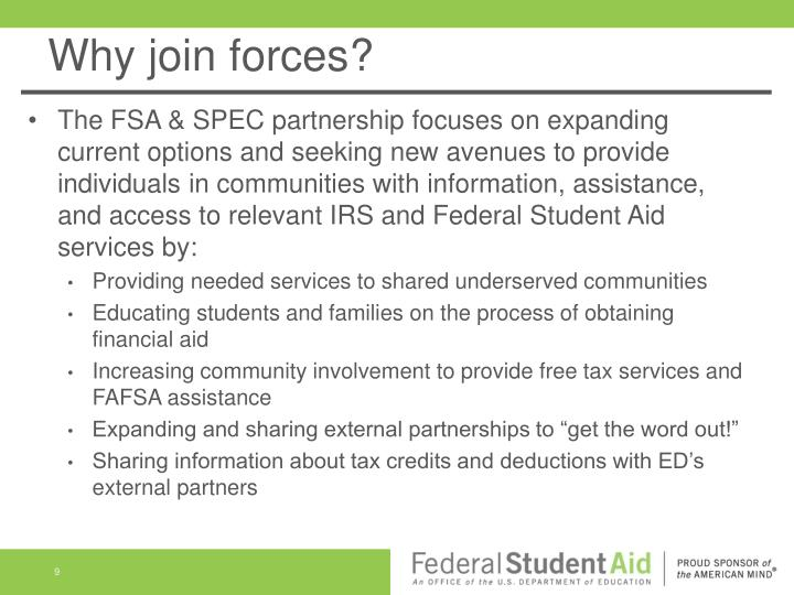 Why join forces?
