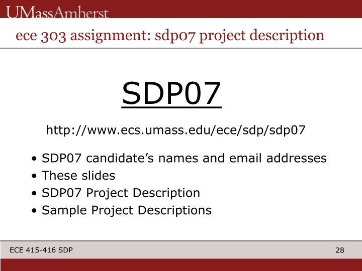 ece 303 assignment: sdp07 project description