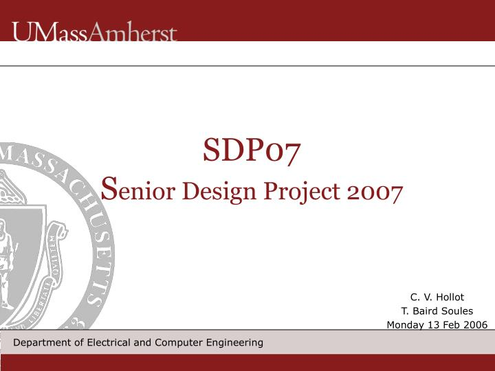 Sdp07 s enior design project 2007