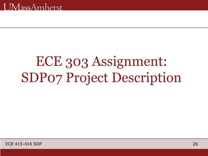 ECE 303 Assignment: