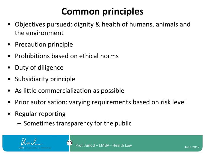 Common principles