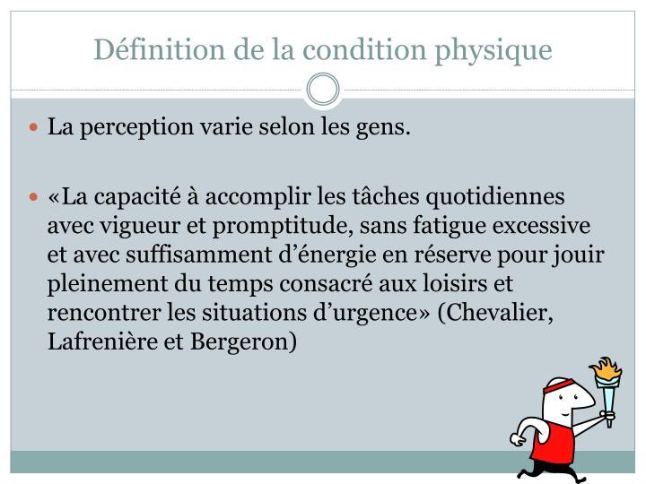 Définition de la condition physique