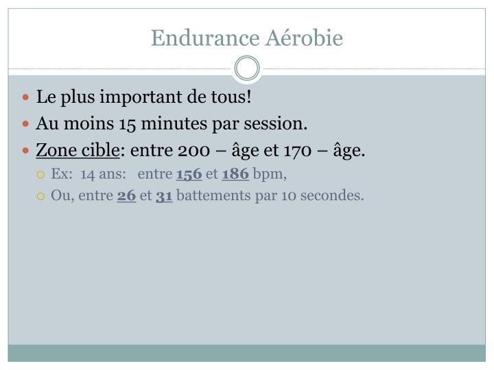 Endurance Aérobie