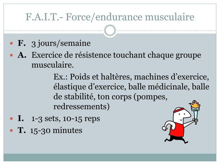 F.A.I.T.- Force/endurance musculaire