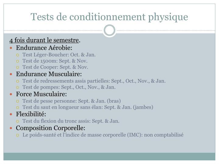 Tests de conditionnement physique